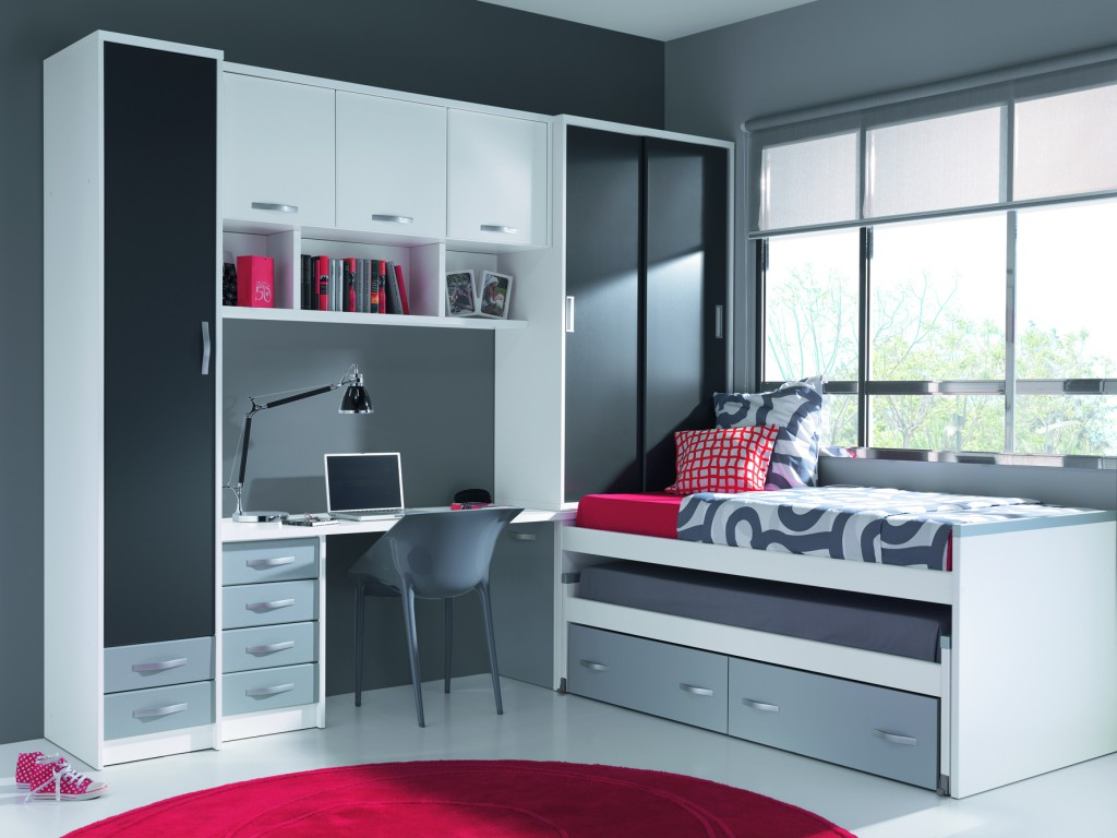 Dormitorios juveniles muebles s nchez y castillo - Dormitorios juveniles blancos ...