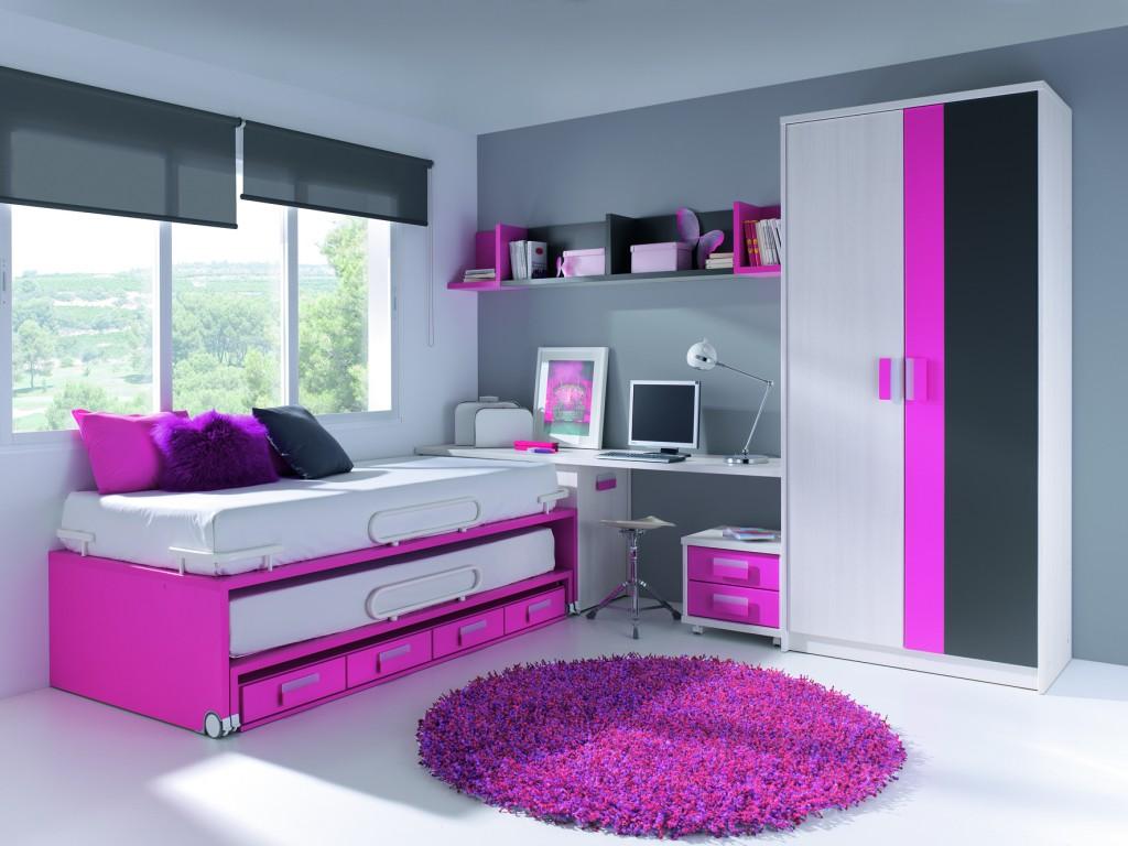 Dormitorios juveniles muebles s nchez y castillo for Cuartos de ninas fucsia